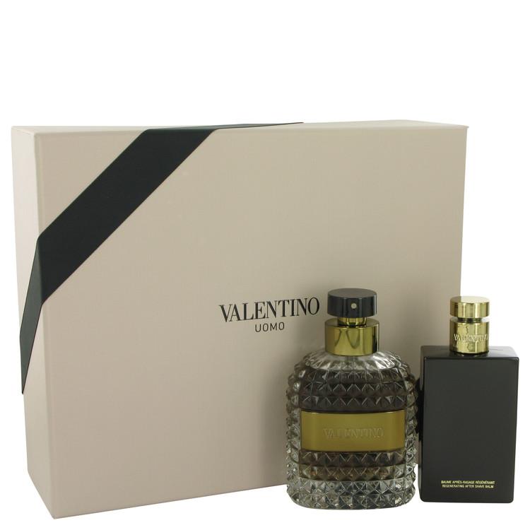 Valentino Uomo for Men, Gift Set (3.4 oz EDT Spray + 3.4 oz After Shave Balm)