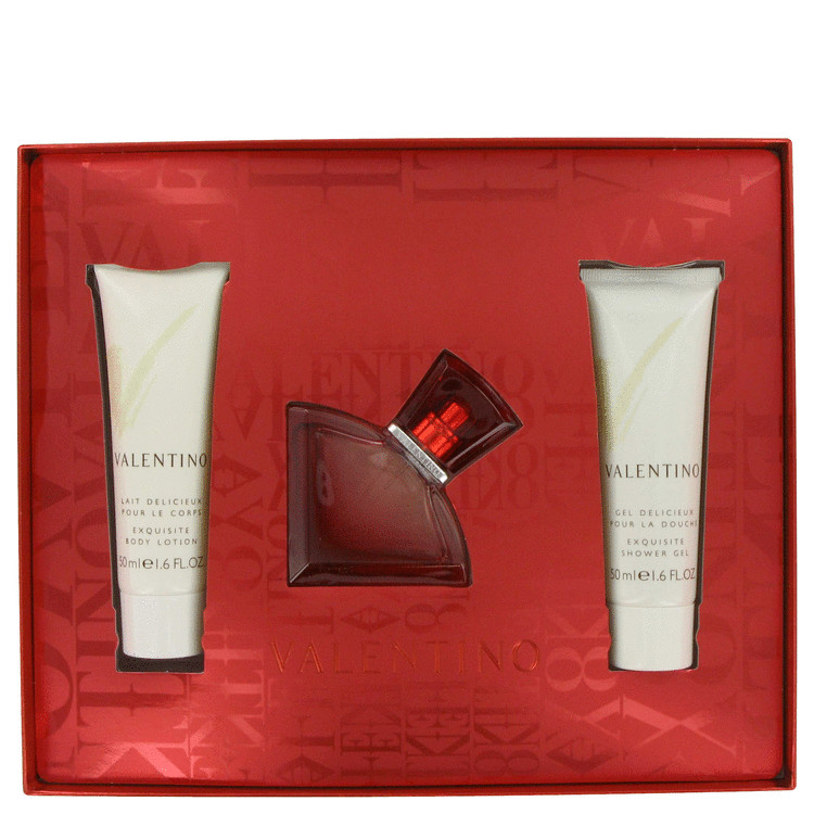 Valentino V Absolu Gift Set -- Gift Set - 1.0 oz Eau De Parfum Spray + 1.7 oz Body Lotion + 1.7 oz Shower Gel for Women
