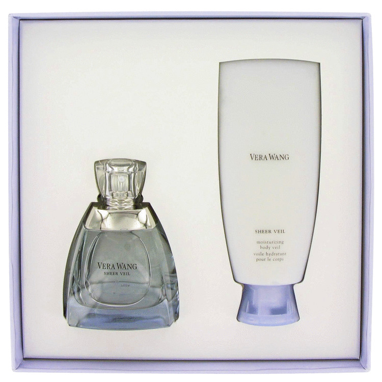 Vera Wang Sheer Veil Gift Set -- Gift Set - 3.4 oz Eau De Parfum Spray + 5 oz Body Veil for Women