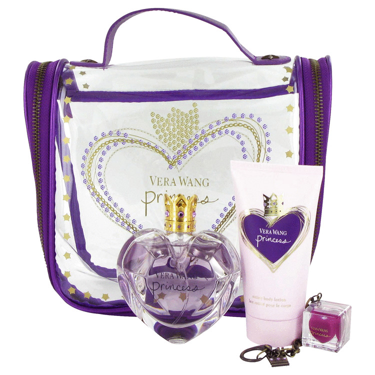 Princess Gift Set -- Gift Set - 1.7 oz Eau De Toilette Spray + 2.5 oz Body Lotion + .11 oz Lip Gloss  + Travel Bag for Women