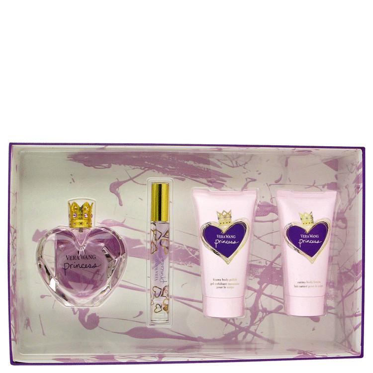 Princess for Women, Gift Set (1.7 oz EDT Spray + 2.5 oz  Body Lotion + 2.5 oz Body Polish + .2 oz Mini Roller EDT)