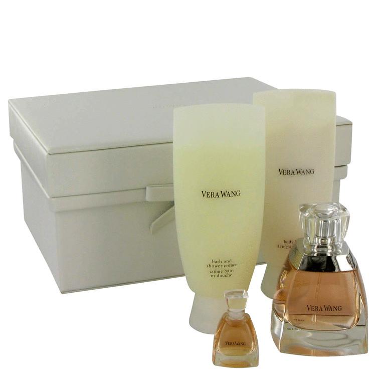 Vera Wang Gift Set -- Gift Set - 1.7 oz Eau De Parfum Spray + .13 oz Mini EDP + 3.4 oz Body Lotion + 3.4 oz Shower Crème for Women