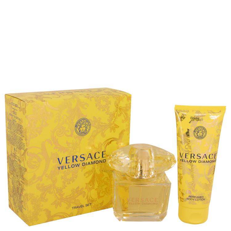 Versace Yellow Diamond by Versace Women's Gift Set -- 3 oz Eau De Toilette Spray + 3.4 oz Body lotion