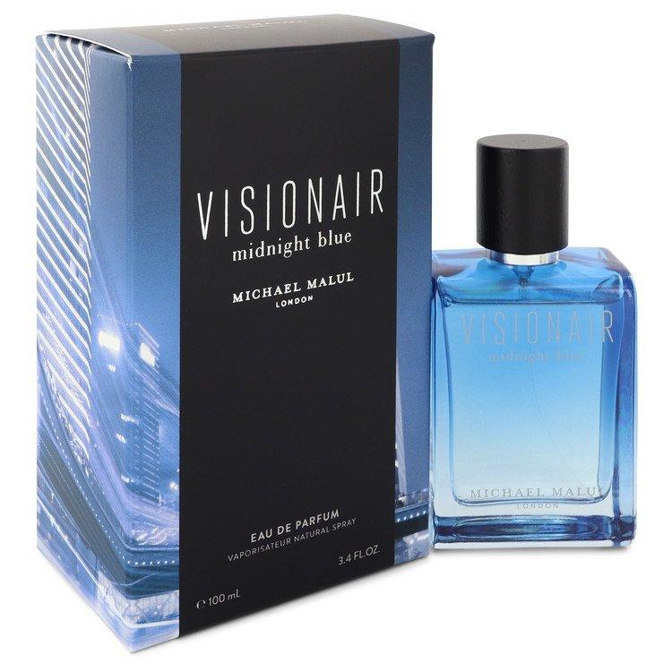 Visionair Midnight Blue by Michael Malul Men's Eau De Parfum Spray 3.4 oz