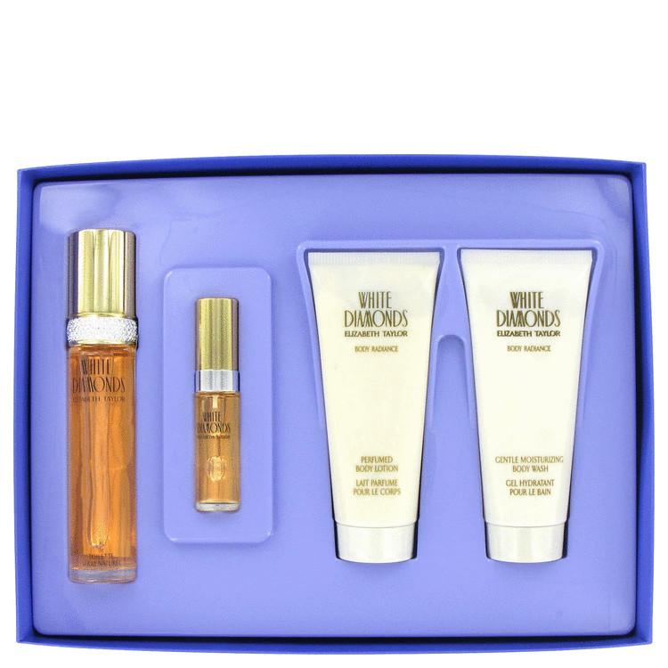 White Diamonds Gift Set -- Gift Set - 1.7 oz Eau De Toilette Spray + 3.4 oz Body Lotion +3.4 oz Body Wash+.33 Mini EDT Spray for Women