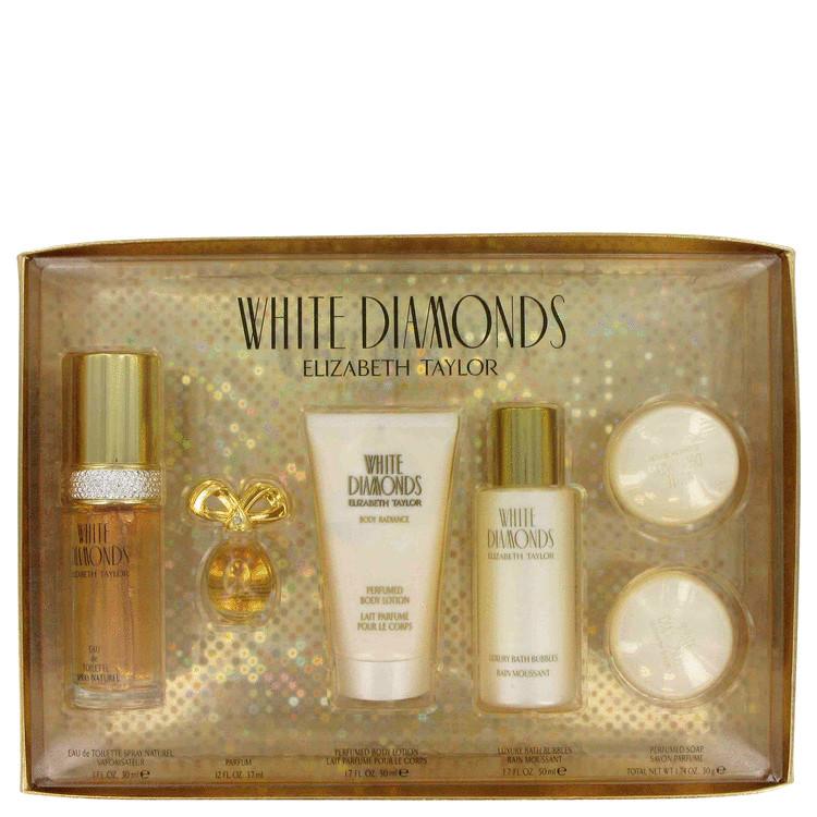 White Diamonds Gift Set -- Gift Set - 1 oz Eau De Toilette Spray + 1.7 oz Body Lotion + 1.7 oz Bath Bubbles +  .12 oz Parfum  + 2 Soaps for Women