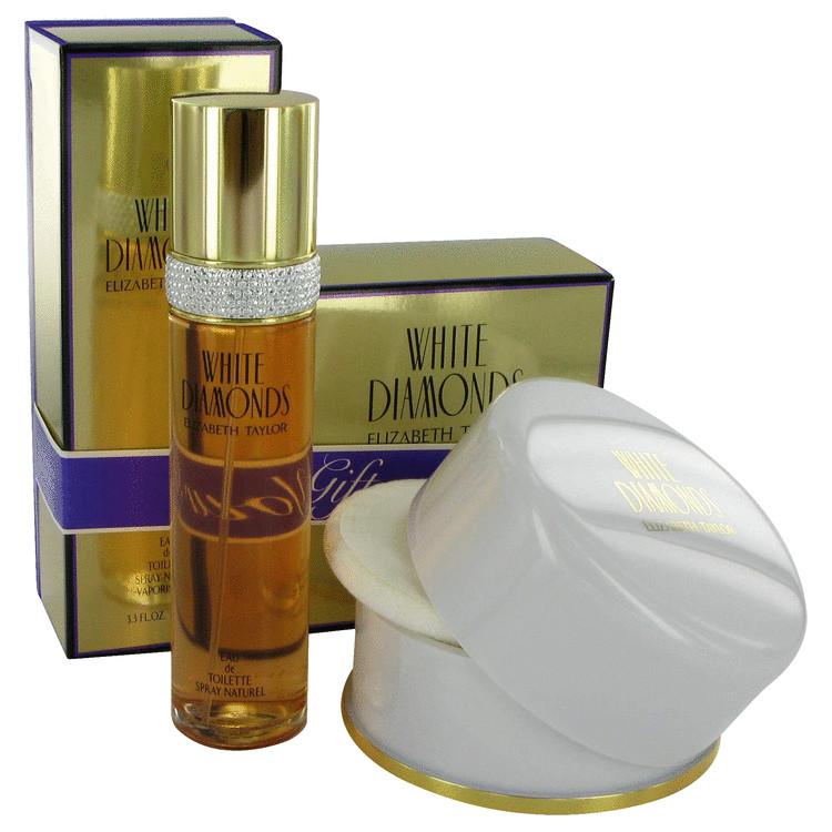 White Diamonds Gift Set -- Gift Set - 3.4 oz Eau De Toilette Spray + 2.6 oz Dusting Powder for Women