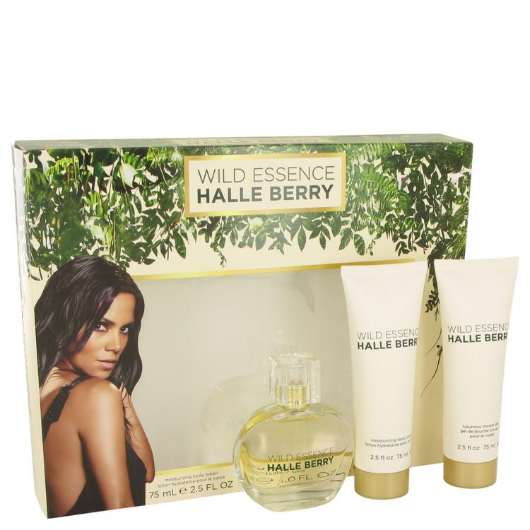 Wild Essence Halle Berry by Halle Berry for Women Gift Set -- 1 oz Eau De Parfum Spray + 2.5 oz Body Lotion + 2.5 oz Shower Gel