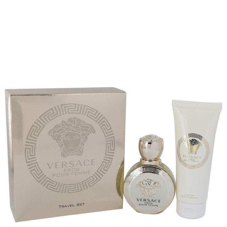 Versace Eros by Versace for Women Gift Set -- 1.7 oz Eau De Parfum Spray + 3.4 oz Body Lotion