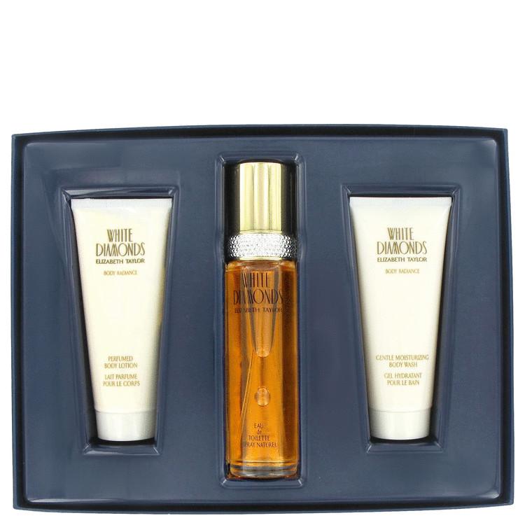 White Diamonds Gift Set -- Gift Set - 3.3 oz Eau De Toilette Spray + 3.3 oz Body Wash + 3.3 oz Body Lotion for Women