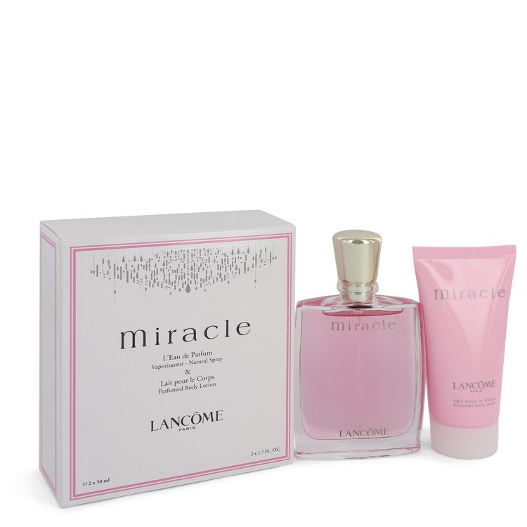 Miracle Gift Set -- Gift Set - 1.7 oz Eau De Parfum Spray + 1.7 oz Body Lotion for Women