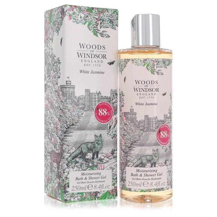 White Jasmine by Woods of Windsor for Women Shower Gel 8.4 oz