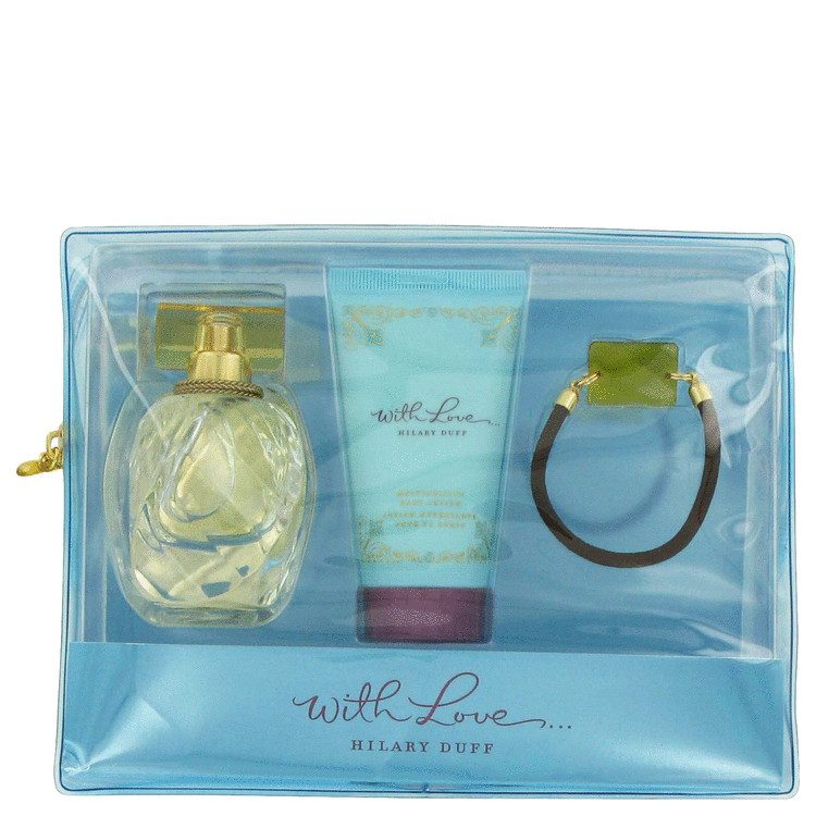 With Love Gift Set -- Gift Set - 1.0 oz Eau De Parfum Spray + 1.7 oz Body Lotion + Ponytail Holder for Women