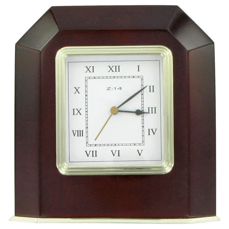 Halston Z-14 Gift Set by Halston 4 x 6 Wooden Desk Clock for Men