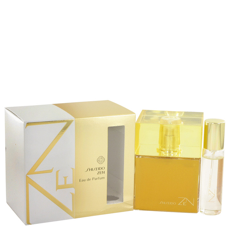 Zen by Shiseido Eau De Parfum Spray with .5 oz Mini EDP Spray 3.4 oz