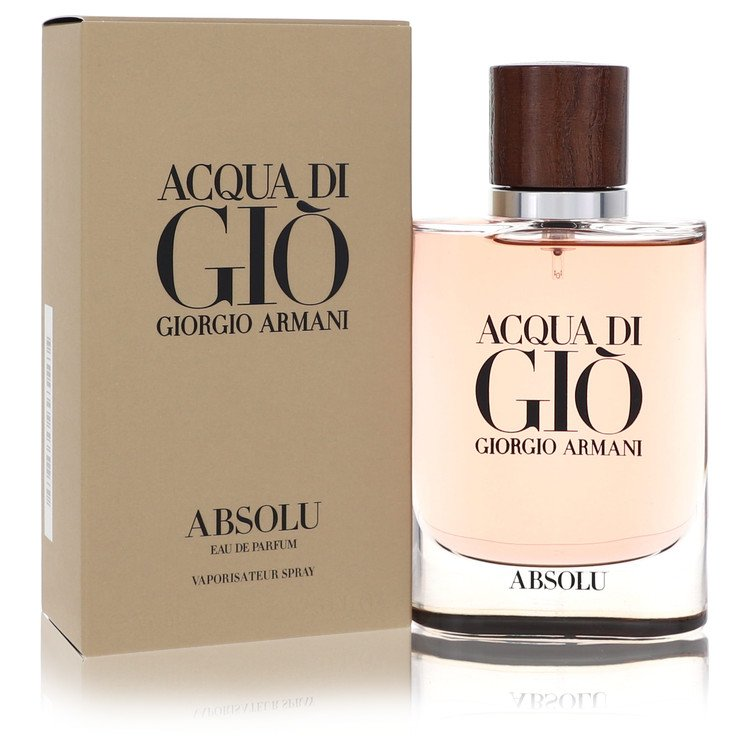 Acqua Di Gio Absolu by Giorgio Armani for Men Eau De Parfum Spray 2.5 oz