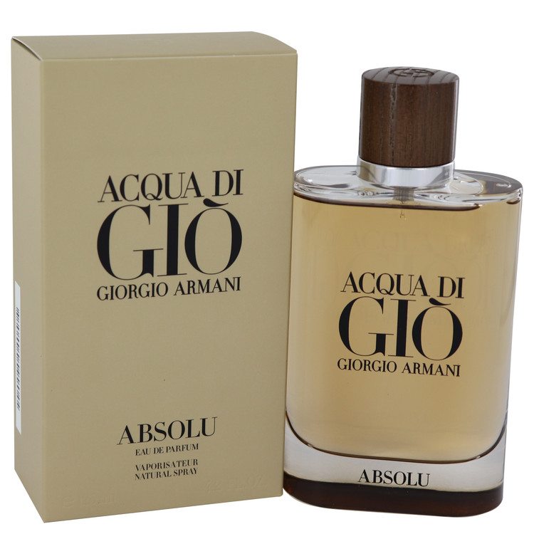 Acqua Di Gio Absolu by Giorgio Armani for Men Eau De Parfum Spray 4.2 oz
