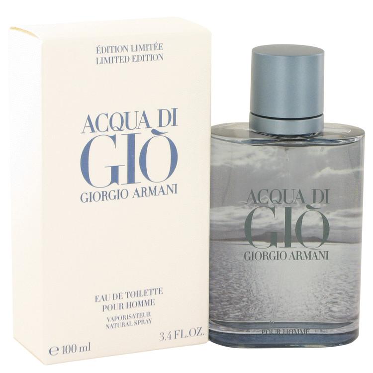 Acqua Di Gio Blue Edition by Giorgio Armani for Men Eau De Toilette Spray (Limited Edition) 3.4 oz
