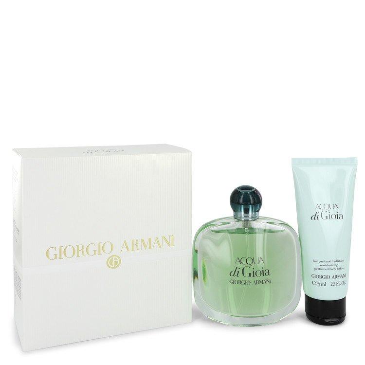 Acqua Di Gioia by Giorgio Armani –  Gift Set — 3.4 oz Eau De Parfum Spray + 2.5 oz Body Lotion — for Women