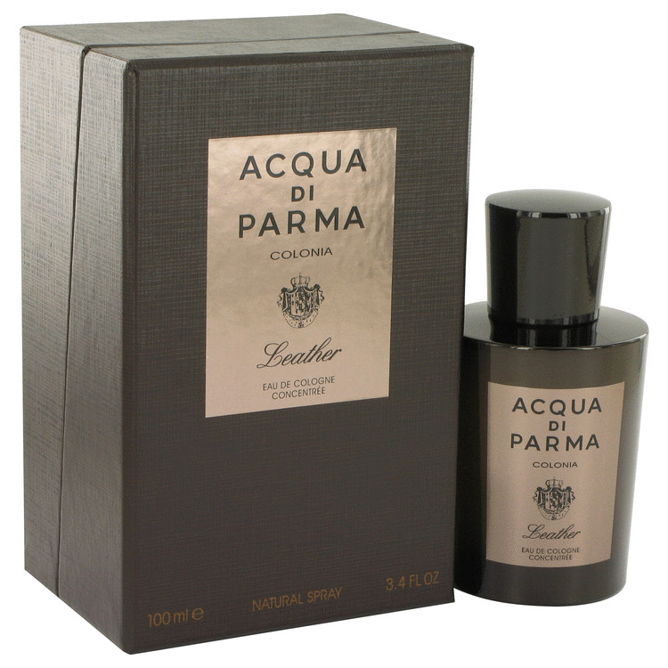 Acqua Di Parma Colonia Leather by Acqua Di Parma for Men Eau De Cologne Concentree Spray 3.4 oz