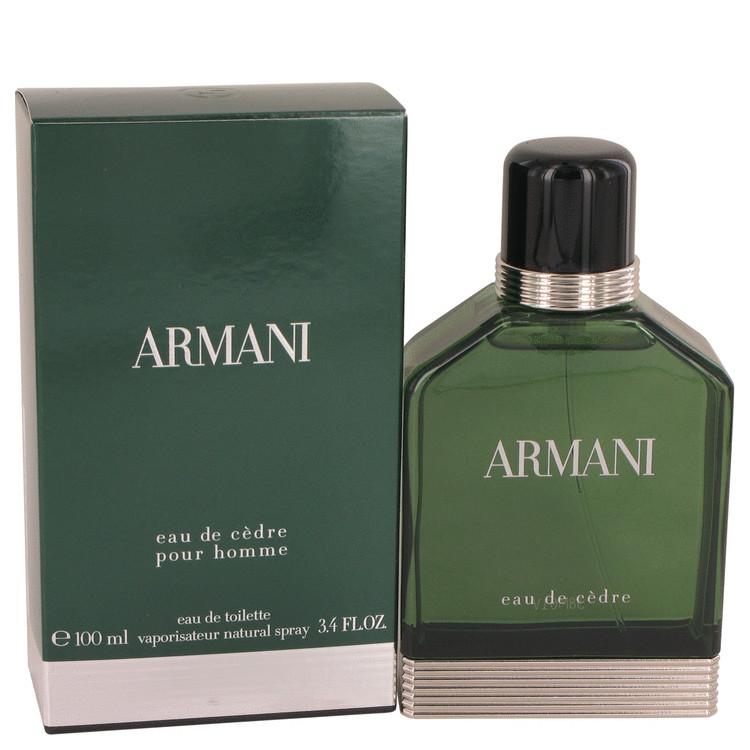 Armani Eau De Cedre by Giorgio Armani for Men Eau De Toilette Spray 3.4 oz