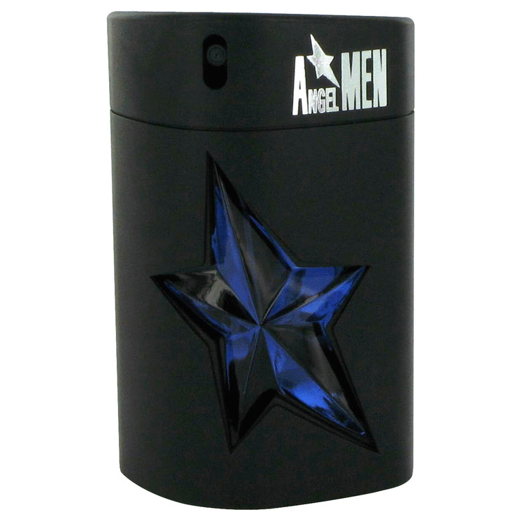 ANGEL by Thierry Mugler for Men Eau De Toilette Spray Refillable (Rubber - Tester) 3.4 oz