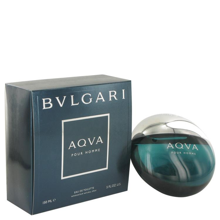 AQUA POUR HOMME by Bvlgari for Men Eau De Toilette Spray 5 oz