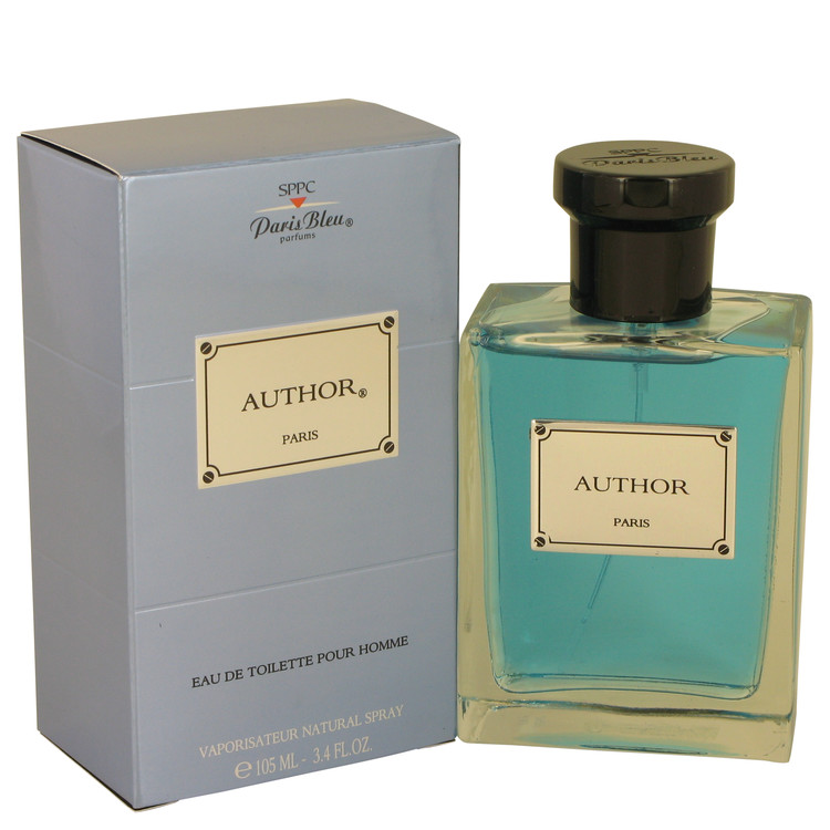 Author Paris Bleu by Paris Bleu for Men Eau De Toilette Spray 3.4 oz