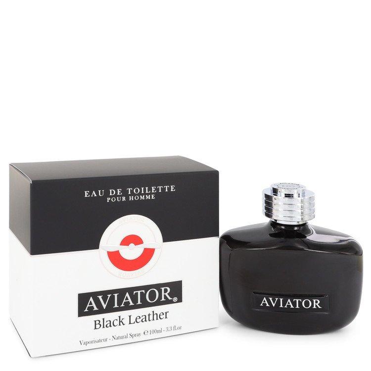Aviator Black Leather by Paris Bleu Men's Eau De Toilette Spray