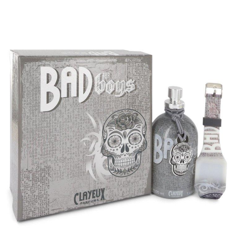 Bad for Boys by Clayeux Parfums for Men Eau De Toilette Spray + Free LED Watch 3.4 oz