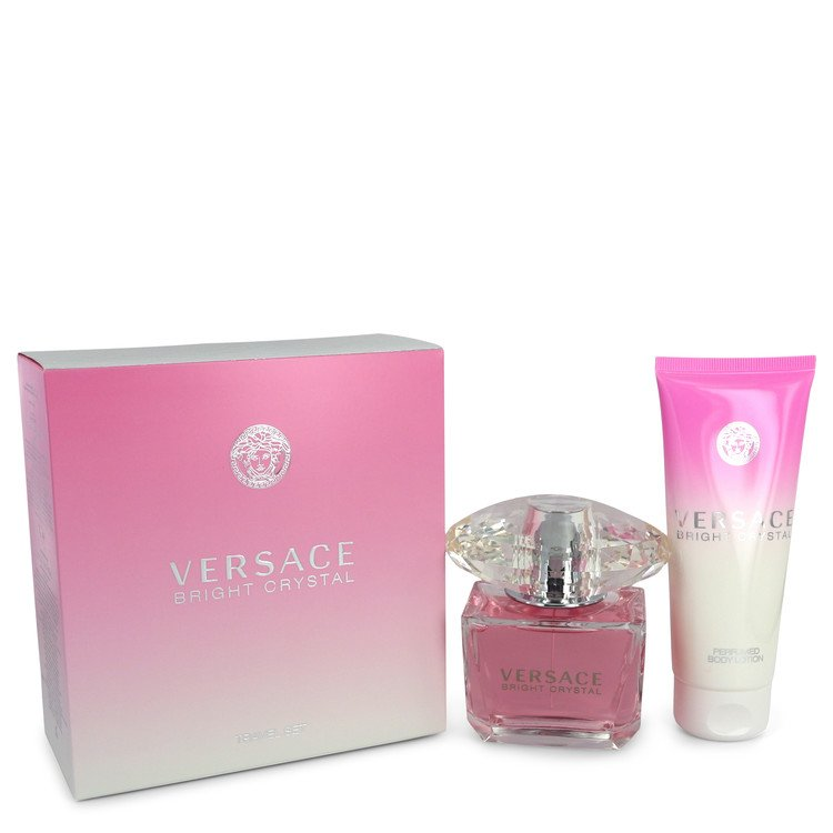Bright Crystal by Versace Women's Gift Set -- 3 oz Eau De Toilette Spray + 3.4 oz Body Lotion