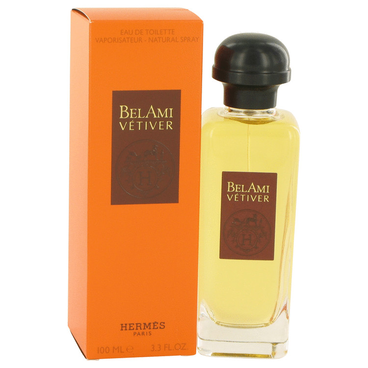 Bel Ami Vetiver by Hermes Eau De Toilette Spray 3.3 oz
