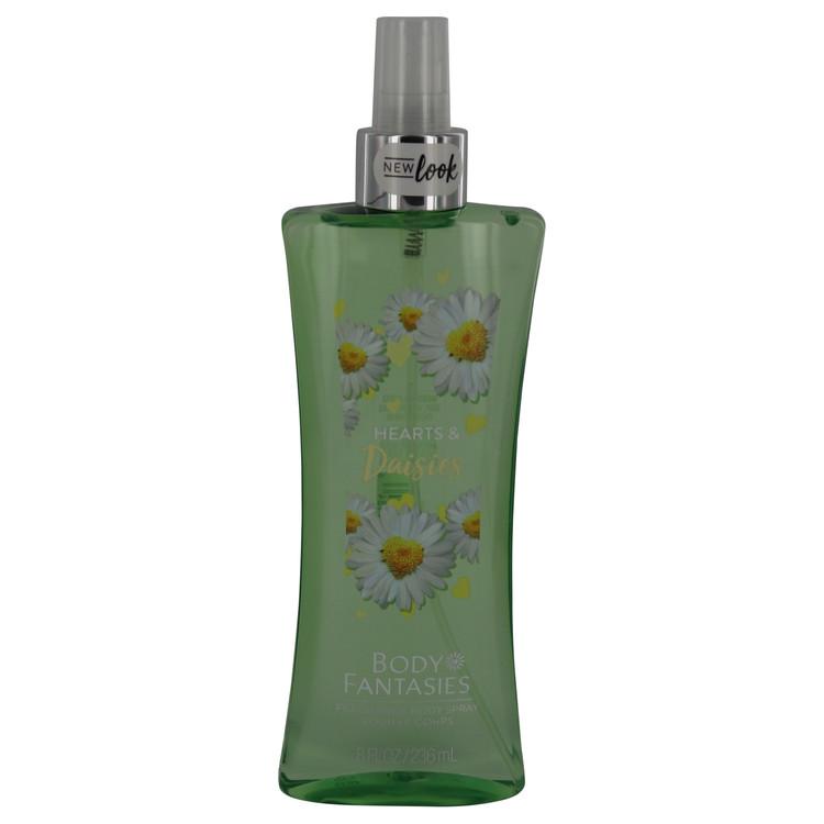 Body Fantasies Signature Hearts & Daisies by Parfum De Coeur for Women Body Spray 8 oz