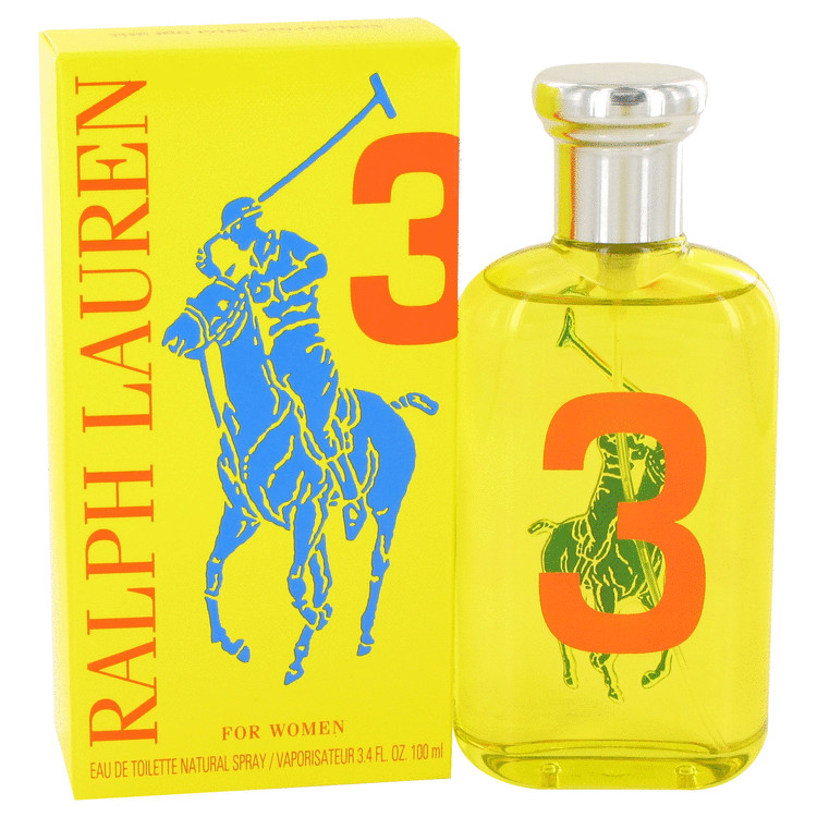 Big Pony Yellow 3 by Ralph Lauren Women's Eau De Toilette Spray 3.4 oz
