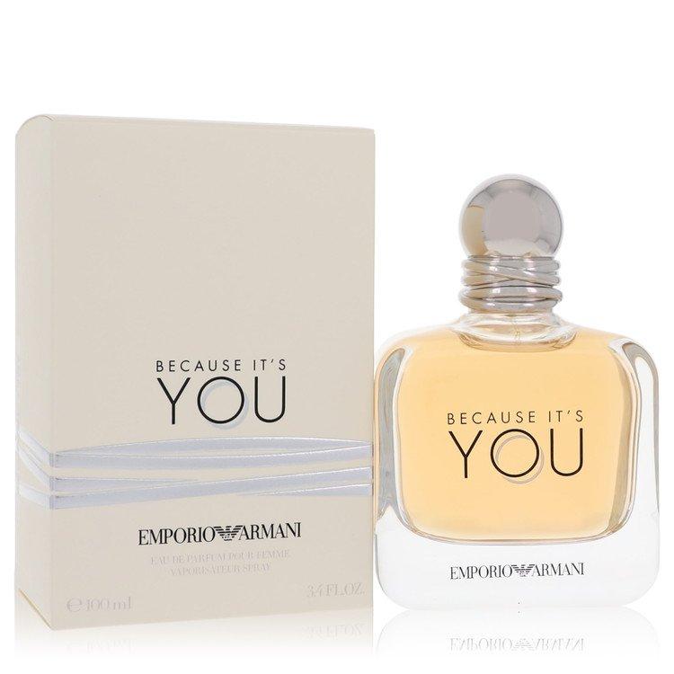 Because It's You by Emporio Armani for Women Eau De Parfum Spray 3.4 oz