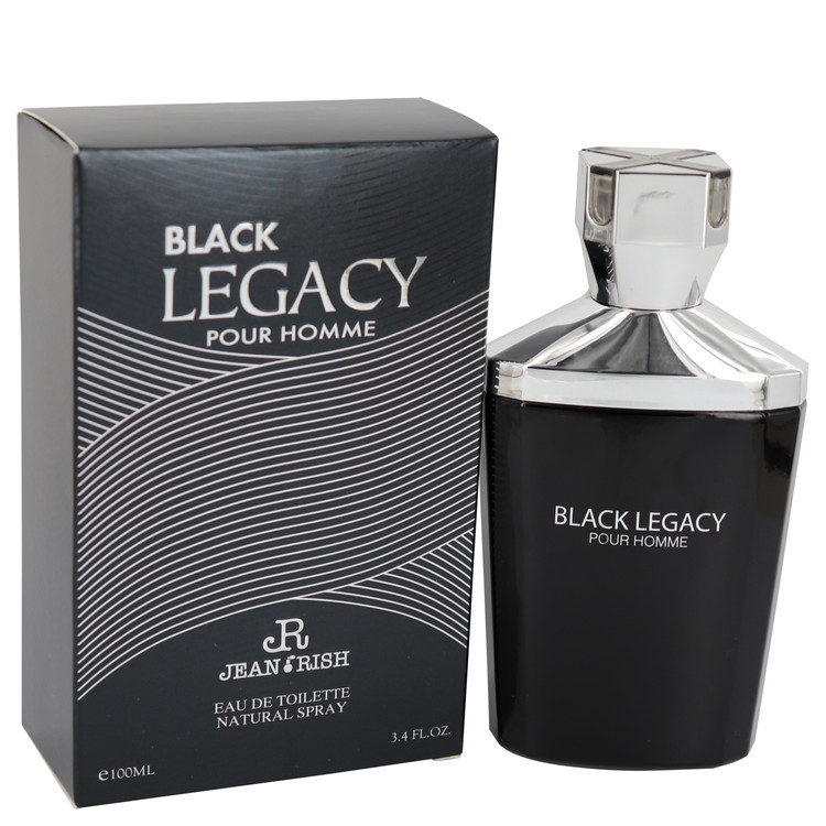 Black Legacy Pour Homme by Jean Rish for Men Eau De Toilette Spray 3.4 oz