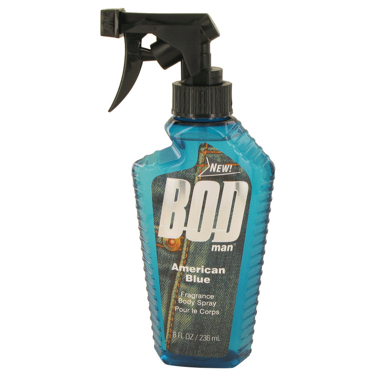 Bod Man American Blue by Parfums De Coeur for Men Body Spray 8 oz