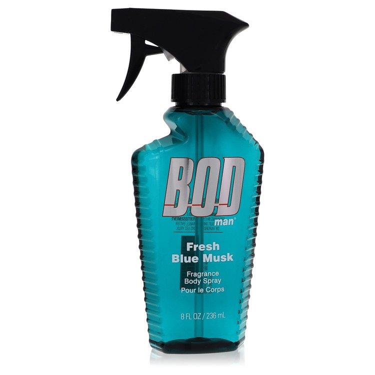 Bod Man Fresh Blue Musk by Parfums De Coeur for Men Body Spray 8 oz