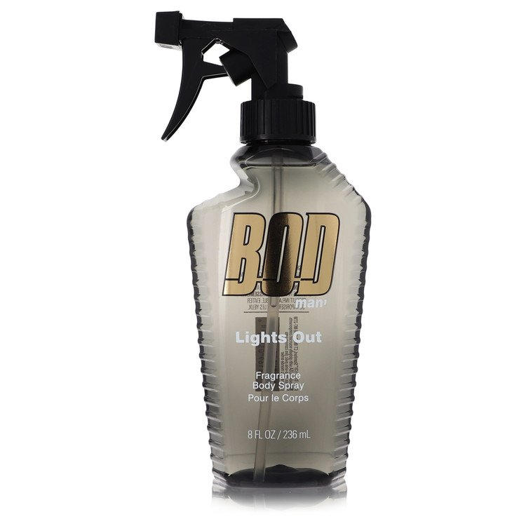 Bod Man Lights Out by Parfums De Coeur Body Spray 8 oz