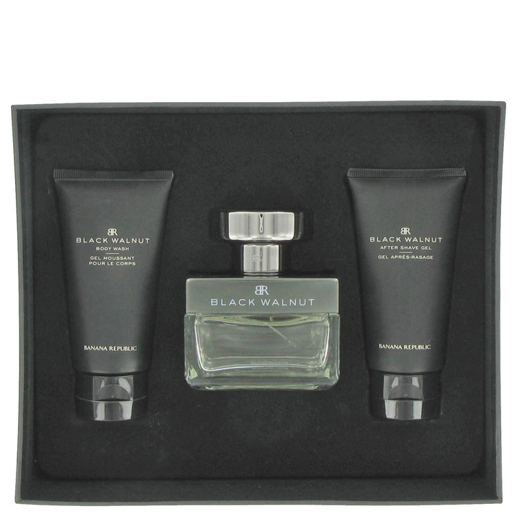 Banana Republic Black Walnut for Men, Gift Set (3.4 oz EDT Spray + 1.7 oz Body Wash + 1.7 oz After Shave)