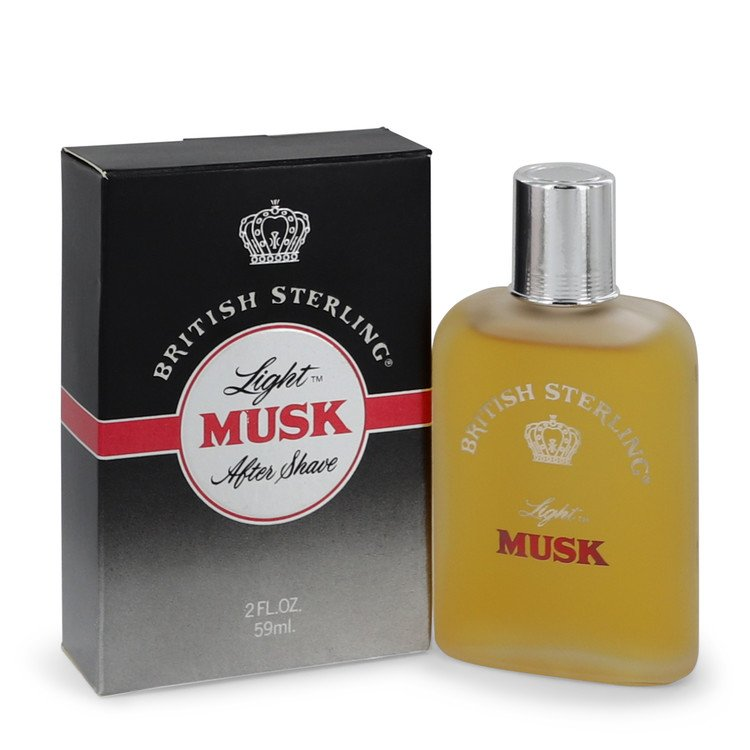 British Sterling Light Musk After Shave 2 oz After Shave for Men