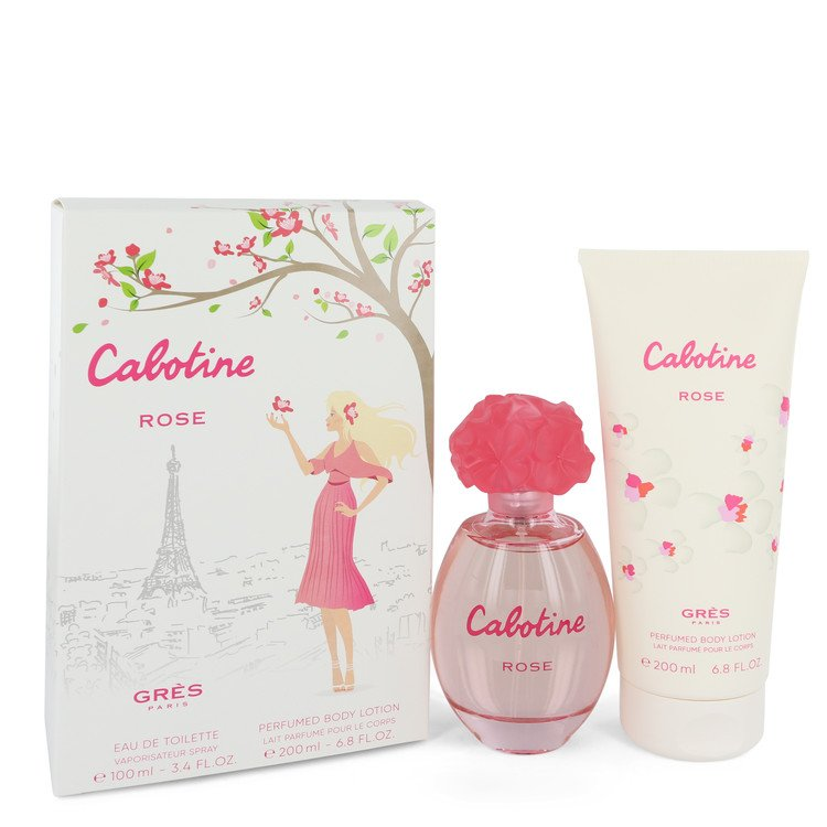 Cabotine Rose by Parfums Gres for Women Gift Set -- 3.4 oz Eau De Toilette Spray + 6.7 oz Body Lotion