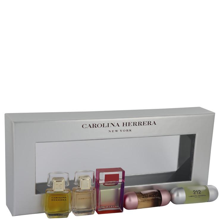 Carolina for Women, Gift Set (Mini Gift Set Includes Carolina Herrera, Carolina, Chic, 212 and 212 Sexy.)