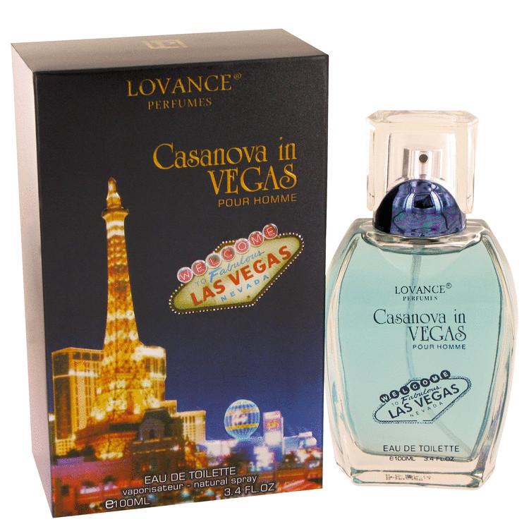 Casanova in Vegas by Lovance for Men Eau De Toilette Spray 3.4 oz