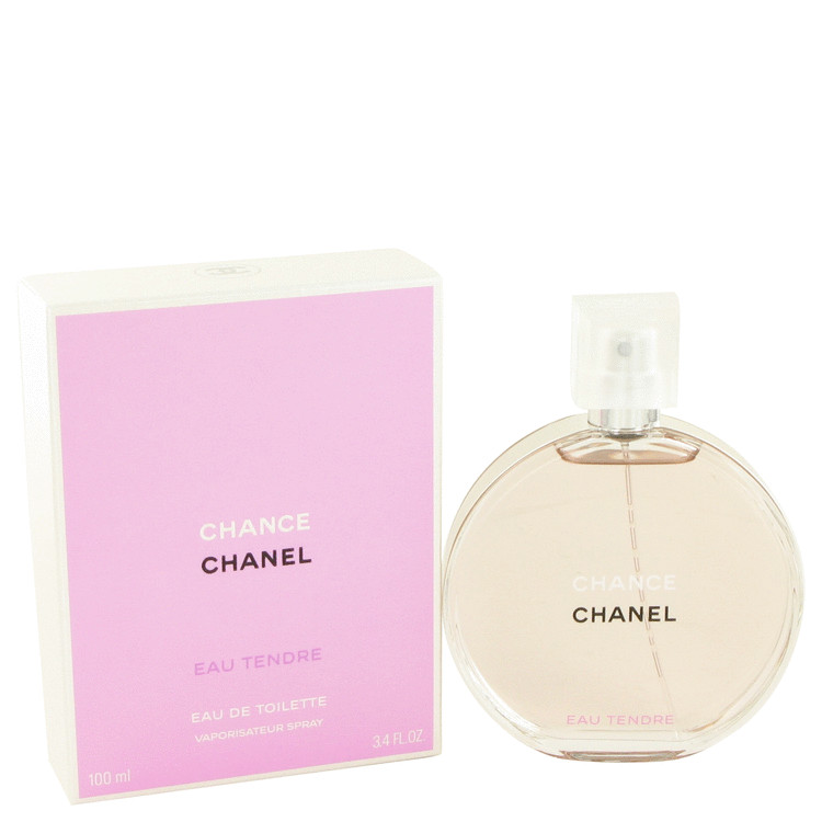 Chance Eau Tendre Perfume by Chanel 3.4 oz EDT Spay for Women