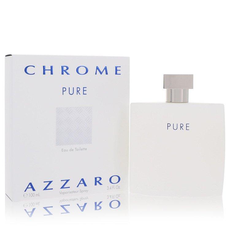 Chrome Pure by Azzaro for Men Eau De Toilette Spray 3.4 oz