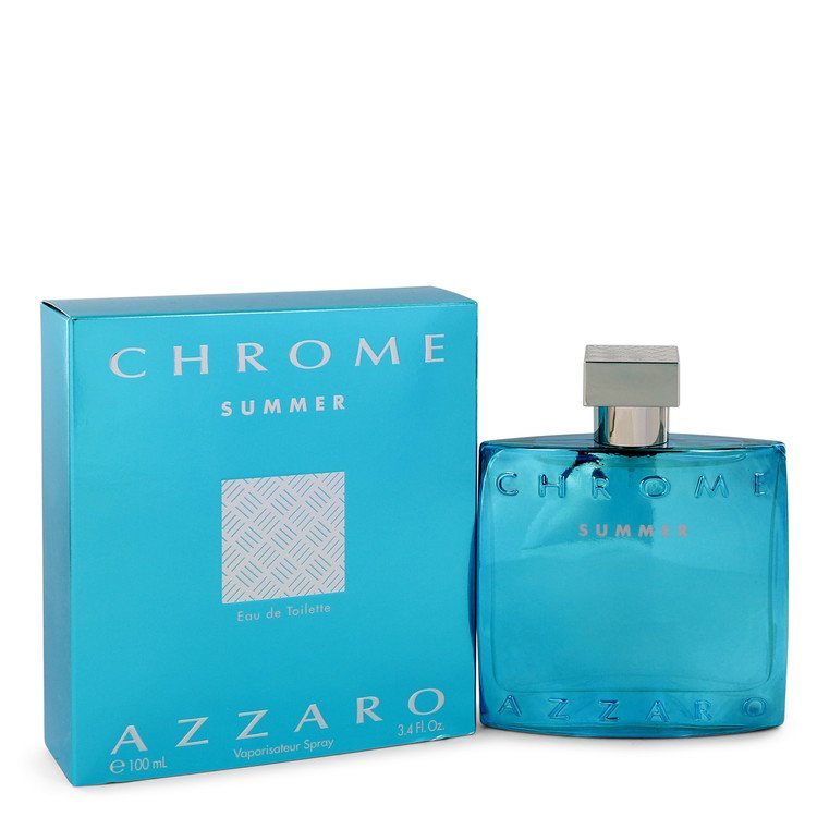 Chrome Summer by Azzaro for Men Eau De Toilette Spray (Limited edition 2012) 3.4 oz