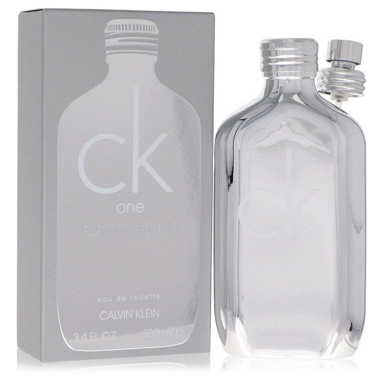 CK One Platinum by Calvin Klein Eau De Toilette Spray (Unisex) 3.4 oz