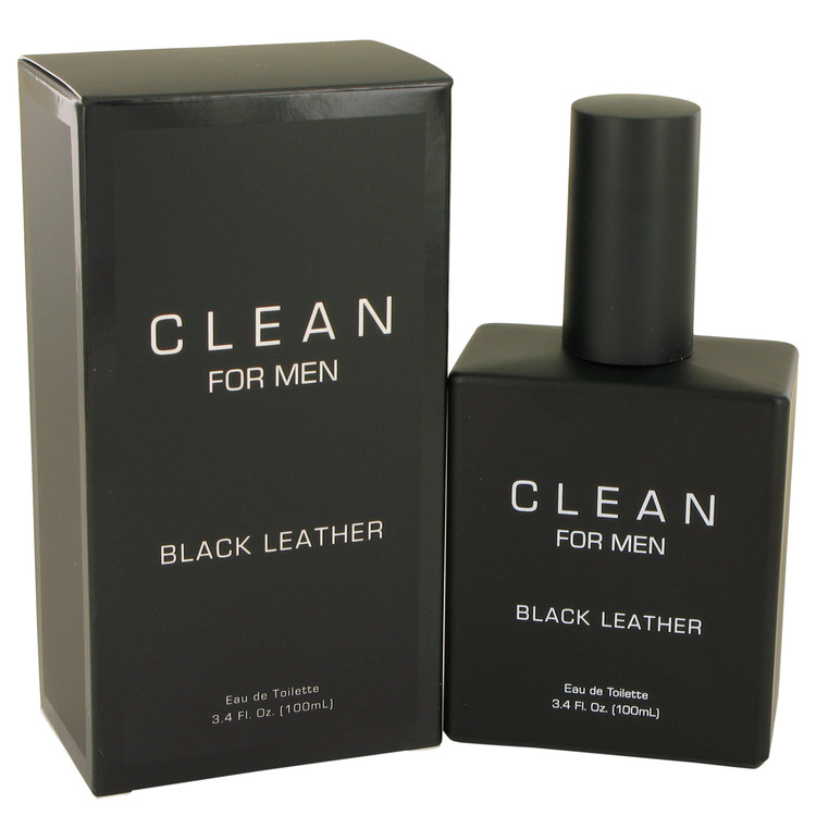 Clean Black Leather Cologne by Clean 3.4 oz EDT Spay for Men
