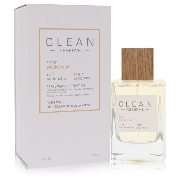 Clean Sueded Oud Perfume by Clean 3.4 oz EDP Spray for Women